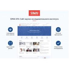 SIMAI-SF4: Сайт научно-исследовательского института - адаптивный с версией для слабовидящих