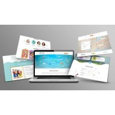 Kinder Landing Дизайнерский, адаптивный landing для детских образовательных учреждений