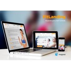 FitnessLanding Адаптивный сайт для фитнес-центра, спортзала, тренера