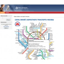 Объекты на карте метро